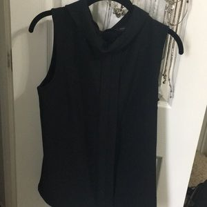 High neck black sleeveless banana republic shirt